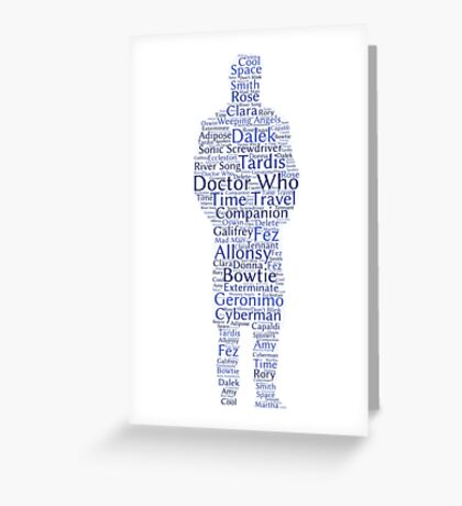 Doctor Who Word Cloud Greeting Card