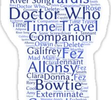 Doctor Who Word Cloud Sticker