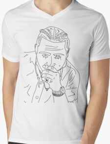 Post Malone cartoon/sketch merch Mens V-Neck T-Shirt