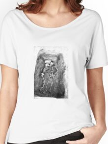 Skeleton Lovers Kiss Women's Relaxed Fit T-Shirt