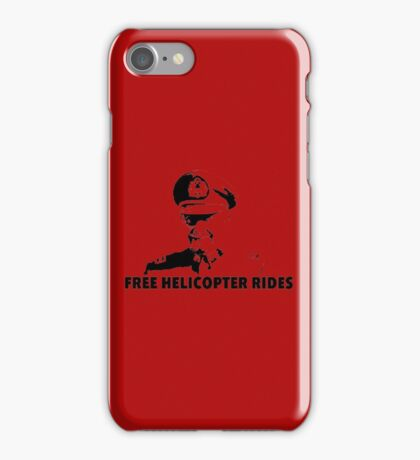 Free Helicopter Rides iPhone Case/Skin