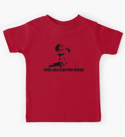 Free Helicopter Rides Kids Tee