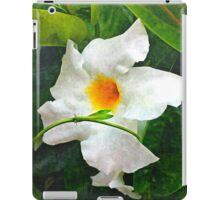White Mandevilla II iPad Case/Skin