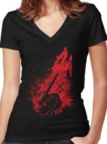 Berserk Beast of Darkness Women's Fitted V-Neck T-Shirt