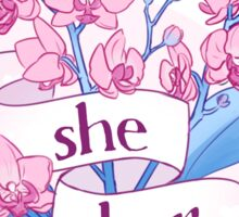 floral she/her pronouns Sticker