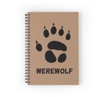 werewolf pawprint Spiral Notebook