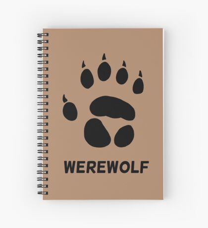werewolf pawprint Spiral Notebook