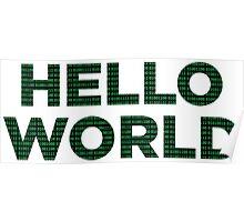 Hello World - Binary Poster
