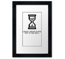 SHOW YOUR SARCASM AND HOW MUCH YOU REALLY CARE Framed Print