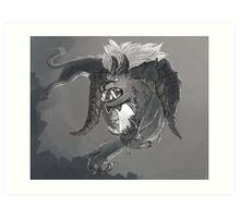 Monster Series: Horned Lion Art Print