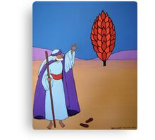 Moses and the Burning Bush Canvas Print
