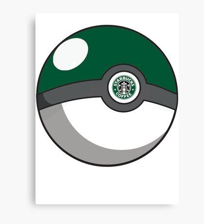 Starbucks Pokéball Canvas Print