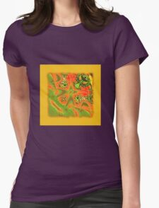 Abstract 0032 Womens Fitted T-Shirt