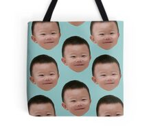 Lee Daebak / Lee Si An Head **Turquoise Background** (Return of Superman)  Tote Bag