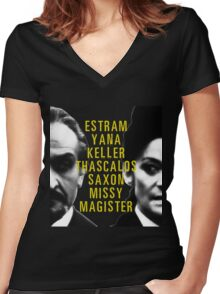 I Am The Master and You Will Obey Me Women's Fitted V-Neck T-Shirt