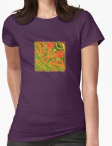 Abstract 0032c Womens Fitted T-Shirt