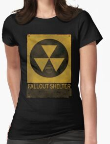 Fallout Shelter - Old & Busted! Womens Fitted T-Shirt