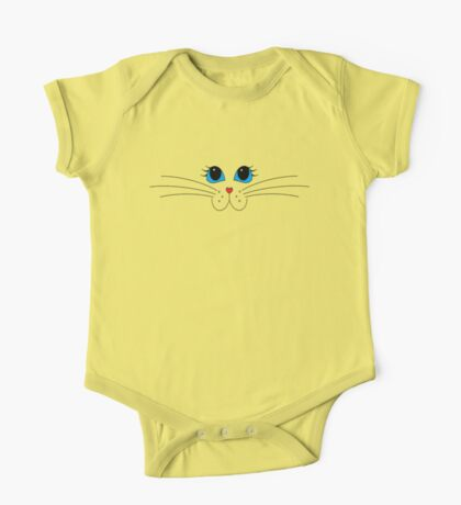 Putty-cat Face #2 One Piece - Short Sleeve