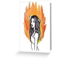 FIRE GIRLS Greeting Card