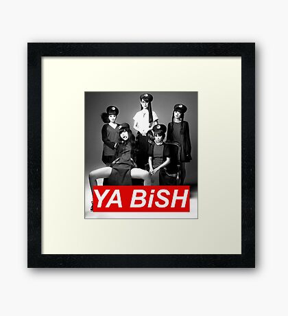 YA BiSH Parody Framed Print