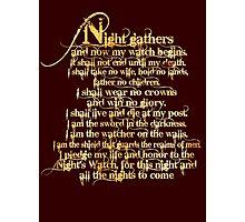 'Night Gathers...' Photographic Print