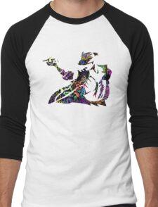 Michael Jackson -  Psychedelic Men's Baseball ¾ T-Shirt