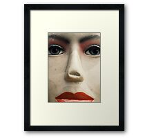 The Face Who Got Hurts Framed Print
