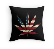 United States - Legalize Marijuana Throw Pillow