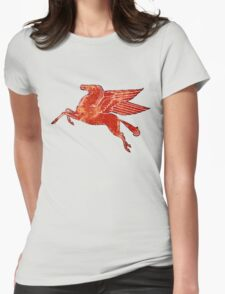 Mobil oil Pegasus Womens Fitted T-Shirt