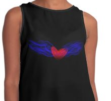 Flaming Heart Contrast Tank