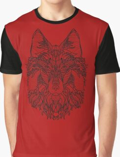 Spirit Wolf : Black and White Coloring DIY    Graphic T-Shirt