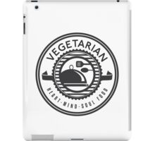 Vegetarian Heart Mind and Soul Food iPad Case/Skin