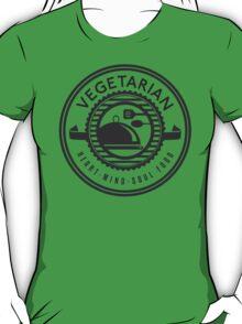 Vegetarian Heart Mind and Soul Food T-Shirt