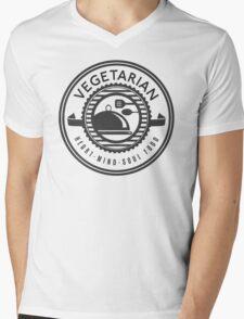 Vegetarian Heart Mind and Soul Food Mens V-Neck T-Shirt