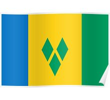 St. Vincent And The Grenadines Flag Poster
