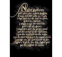 """Night Gathers..."" Photographic Print"