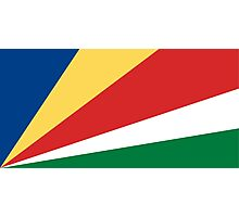 Seychelles Flag Photographic Print