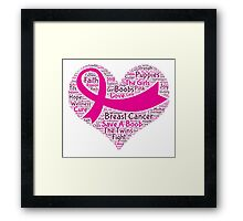 Breast Cancer Word Cloud Framed Print