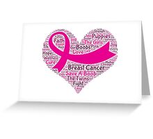 Breast Cancer Word Cloud Greeting Card