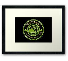 Vegetarian Heart Mind and Soul Food  Framed Print