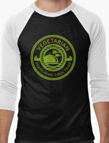 Vegetarian Heart Mind and Soul Food  Men's Baseball ¾ T-Shirt