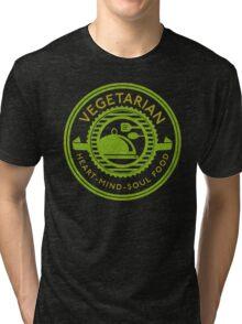 Vegetarian Heart Mind and Soul Food  Tri-blend T-Shirt