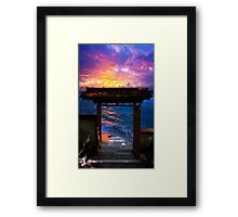 Sunset at Paradise Bay Framed Print