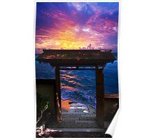 Sunset at Paradise Bay Poster