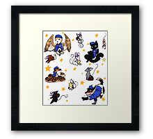 Star cops and Star Thieves Framed Print