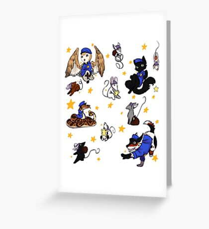 Star cops and Star Thieves Greeting Card