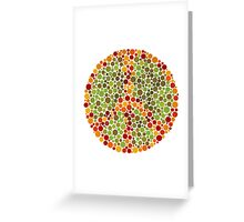Color Blind Peace Sign Greeting Card