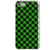 Green Plad iPhone Case/Skin