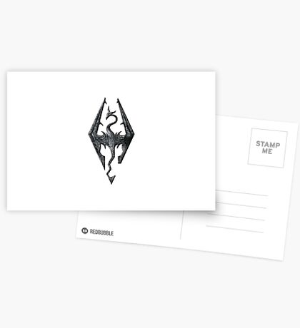 Skyrim Dragon Postcards