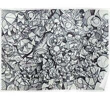 "The Artist Adamo ""RAW Coceptual Sharpie doodle"" Poster"